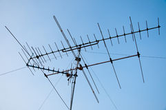 TV and communication aerials Royalty Free Stock Image