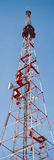 TV or communications tower vertical panorama Stock Photography