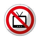 TV con il segno negato illustrazione di stock