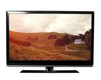 TV con la naturaleza imagen de archivo libre de regalías