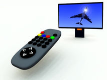 TV Control And TV 3 Stock Photography