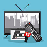 Tv and control design Stock Photo