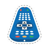 Tv control remote channel. Illustration eps 10 stock illustration