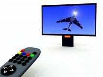 TV Control And TV 17 Royalty Free Stock Photos
