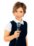 TV Correspondent. Royalty Free Stock Photo