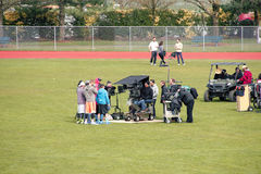 TV Crew in outdoor Production Stock Images