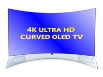 TV curvada Imágenes de archivo libres de regalías