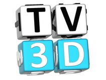 TV 3D Crossword Obrazy Royalty Free