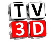 TV 3D Crossword Royalty Free Stock Images