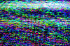 TV damage, television static noise Stock Photography