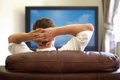 TV de observación Imágenes de archivo libres de regalías