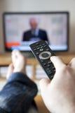 TV de observación Foto de archivo libre de regalías