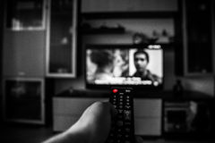 TV de observation Images stock