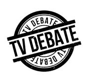 TV Debate rubber stamp. Grunge design with dust scratches. Effects can be easily removed for a clean, crisp look. Color is easily changed stock illustration