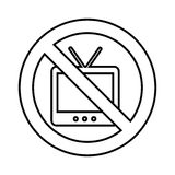 Tv with denied sign. Vector illustration design Stock Photo