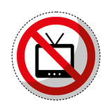 Tv with denied sign. Vector illustration design Stock Photography