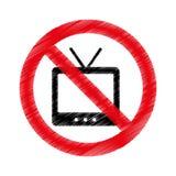 Tv with denied sign. Vector illustration design Stock Image