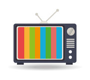 TV design, vector illustration. Stock Photography