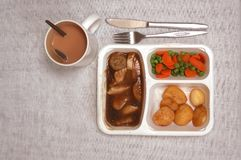 TV dinner Stock Images
