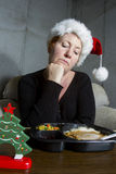 TV Dinner for Christmas Royalty Free Stock Photos