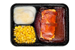 TV dinner of ribs Stock Photography