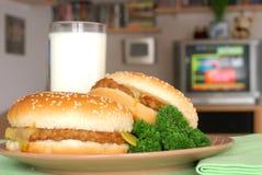 TV dinner, snack, two cheesebu Royalty Free Stock Photos