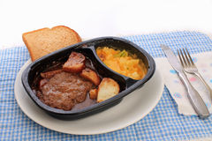 TV Dinner (steak) Royalty Free Stock Images