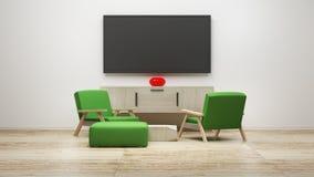 Tv display 3d render Stock Images