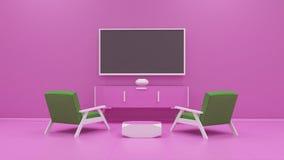 Tv display 3d rendering Stock Photo