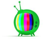 TV divertente con l'antenna. 3d rendono. Isolato. Fotografie Stock