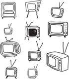 TV Doodles Στοκ εικόνες με δικαίωμα ελεύθερης χρήσης