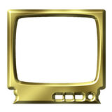 TV dorata Fotografie Stock Libere da Diritti