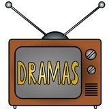 TV Dramas. An illustration of a television Royalty Free Stock Image
