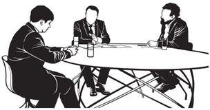 TV dyskusja royalty ilustracja