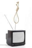 TV e concetto di opinione pubblica fotografia stock