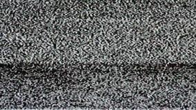 TV ekran żadny sygnał, statyczny hałas i TV statyczna pełnia parawanowy (pętla) HD zdjęcie wideo