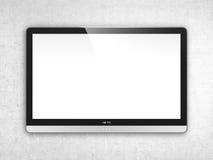 TV ekran na ścianie Obraz Royalty Free