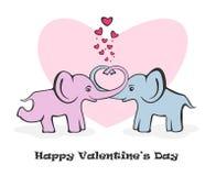 Två elefanter Royaltyfri Bild