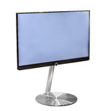 Tv with empty blue screen Royalty Free Stock Image