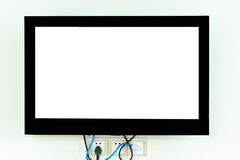 Tv. Empty tv on house wall Stock Images