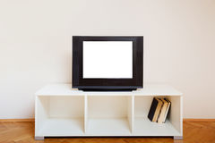 Tv with empty screen Royalty Free Stock Images