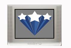 TV en blanco con la bandera de la estrella stock de ilustración