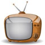 TV en bois Photos libres de droits