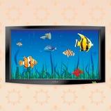 TV en la pared 2 stock de ilustración
