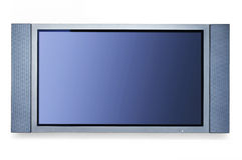 TV en la pared blanca Foto de archivo libre de regalías