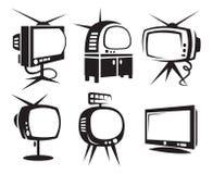 tv:er Fotografering för Bildbyråer