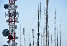 TV et émetteurs radioélectriques Images stock