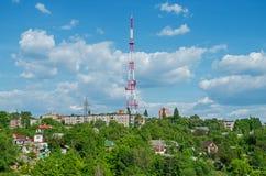 TV et tour par radio de radiodiffusion Image stock