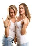 Två europeiska kvinnor Fotografering för Bildbyråer