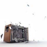Tv exploding Stock Photo